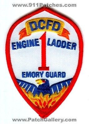 Dekalb County Fire Department Company 1 Engine Ladder Station Patch Georgia GA