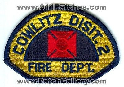 Cowlitz County Fire District 2 Department Rescue Patch Washington WA ERROR - SKU61