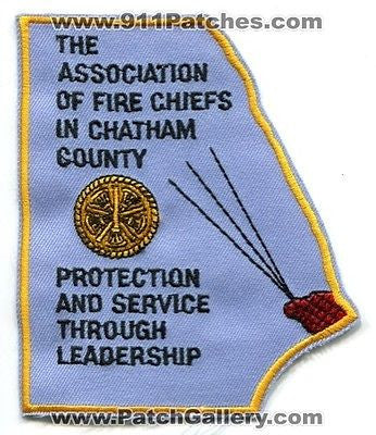 The Association of Fire Chiefs in Chatham County Dept Rescue Patch Georgia GA