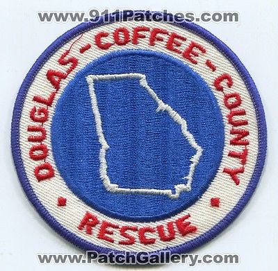 Douglas Coffee County Rescue Department EMS EMT Paramedic Fire Patch Georgia GA