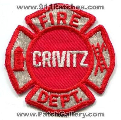 Crivitz Fire Department Dept Rescue EMS Red Maltese Patch Wisconsin WI Patches - SKU62