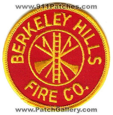 Berkeley Hills Fire Company Department Dept FD Rescue EMS Patch Pennsylvania PA - SKU44