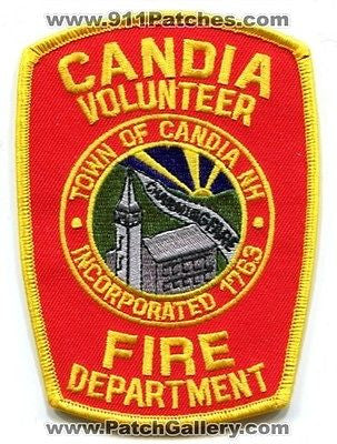 Candia Volunteer Fire Department Dept Rescue EMS Patch New Hampshire NH Patches - SKU52