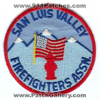 San Luis Valley FireFighters Association Department Rescue EMS Patch Colorado CO