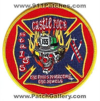 Castle Rock Fire and Rescue Department Station 155 Clown Patch Colorado CO O/S - SKU55