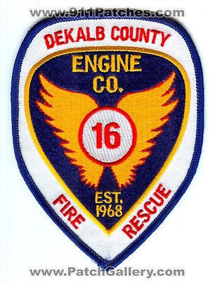 Dekalb County Fire Rescue Department Engine Company 16 Station Patch Georgia GA