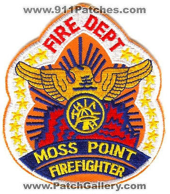 Moss Point Fire Department FireFighter Dept MPFD Rescue EMS Patch Mississippi MS