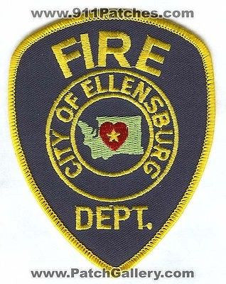 Ellensburg Fire Department Dept FD Rescue EMS Patch Washington WA Patches NEW