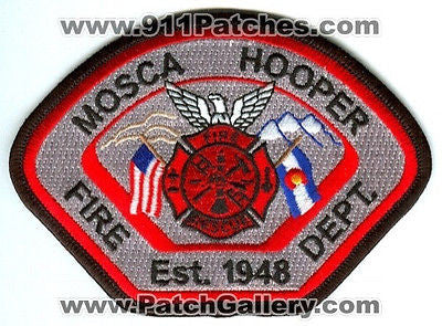 Mosca Hooper Fire Rescue Department Patch Colorado CO