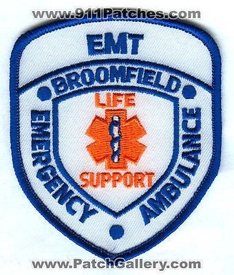 Broomfield Emergency Ambulance EMT EMS Fire Patch Colorado CO Patches DEFUNCT SKUB2