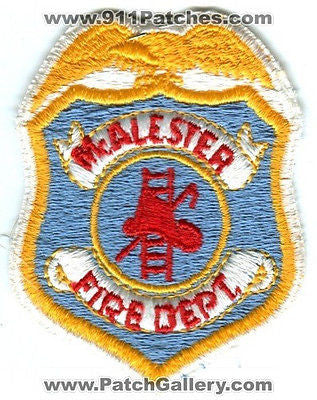 McAlester Fire Department Dept MFD Rescue EMS Patch Oklahoma OK Patches OLD