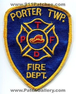 Porter Township Twp Fire Department Dept PTFD Rescue EMS Patch Michigan MI OLD