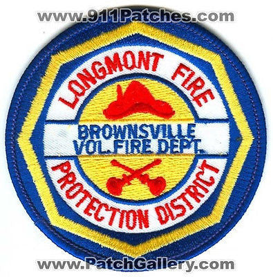 Longmont Fire Protection District Brownsville Volunteer Dept Patch Colorado CO