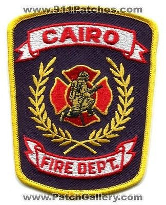 Cairo Fire Department Rescue EMS Patch Georgia GA Patches NEW