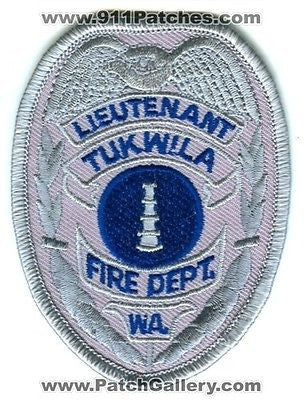 Tukwila Fire Department Lieutenant Dept Rescue EMS Patch Washington WA SKU184