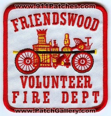 Friendswood Volunteer Fire Department Dept FVFD Rescue EMS Patch Texas TX Red