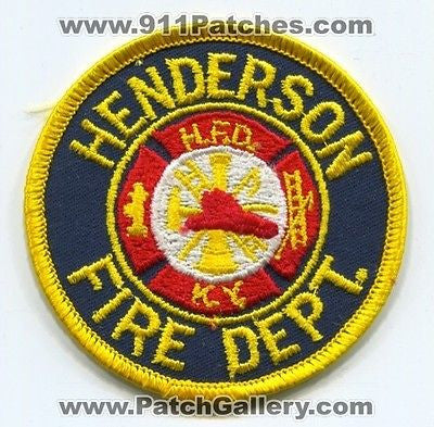 Henderson Fire Department Dept HFD Rescue EMS Patch Kentucky KY Patches OLD