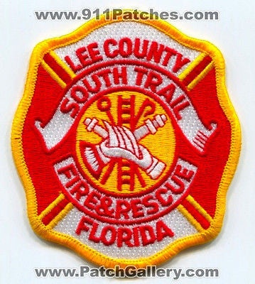 South Trail Fire and Rescue Department Dept FD Lee County Patch Florida FL NEW - SKU177