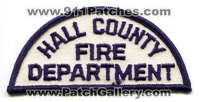 Hall County Fire Department Dept HCFD Rescue Patch Georgia GA Black White OLD