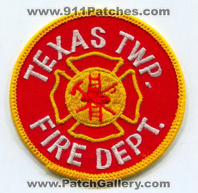 Texas Township Fire Department Twp Dept. TTFD Rescue EMS Patch Michigan MI OLD