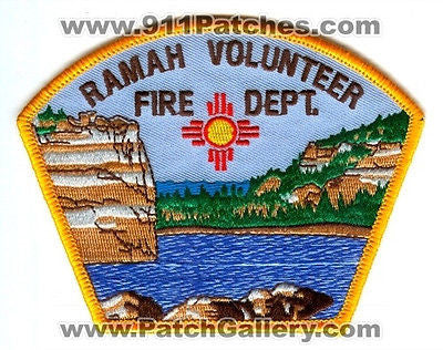 Ramah Volunteer Fire Department Dept RVFD Rescue EMS Patch New Mexico NM Patches