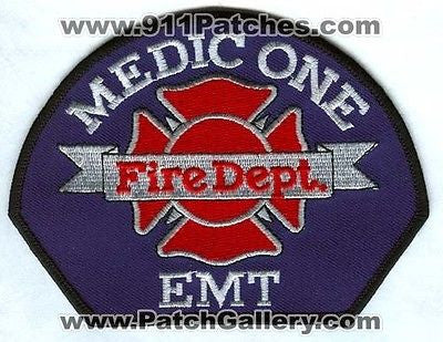 Medic One 1 Fire Department Dept FD EMT EMS Patch Washington WA Patches USED