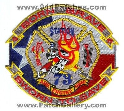 Houston Fire Station 73 Company Engine Squad Ambulane EMS Patch Texas TX Blue - SKU92
