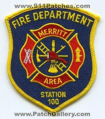 Merritt Area Fire Department Station 100 Company Patch Michigan MI