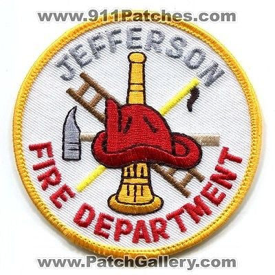 Jefferson Fire Department Dept Rescue EMS Patch Georgia GA Patches Gray Letters