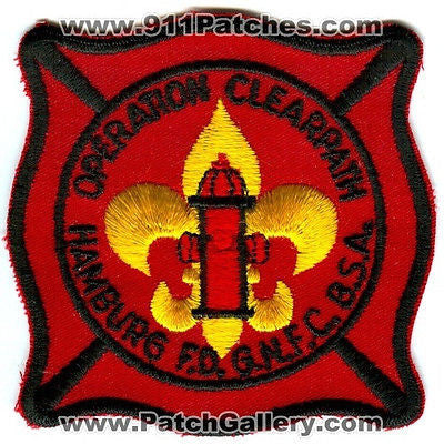 Hamburg Fire Dept GNFC BSA Boy Scouts Operation Clearpatch Patch New York NY