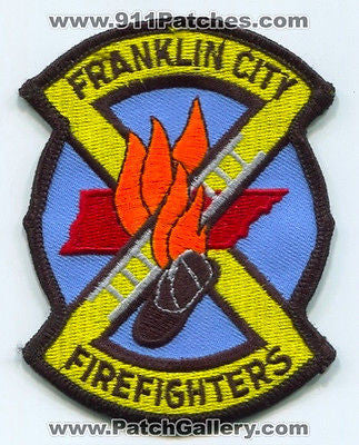 Franklin City Fire Department FireFighters Dept Rescue EMS Patch Tennessee TN