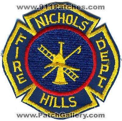 Nichols Hills Fire Department Dept NHFD Rescue EMS Patch Oklahoma OK Patches OLD