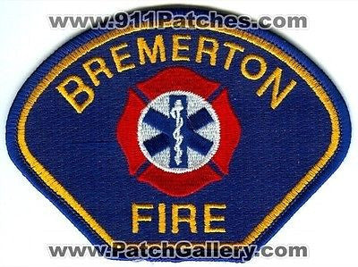 Bremerton Fire Department Dept FD Patch Washington WA Patches USED - SKU49