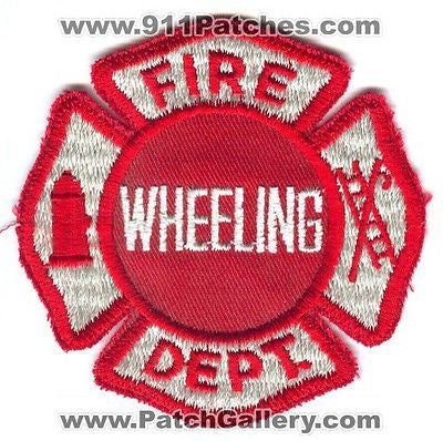 Wheeling Fire Department Dept WFD Rescue EMS Red Maltese Patch Illinois IL OLD
