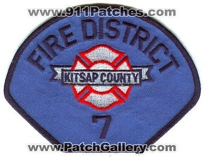 Kitsap County Fire District Number 7 Department Rescue EMS Patch Washington WA - SKU100