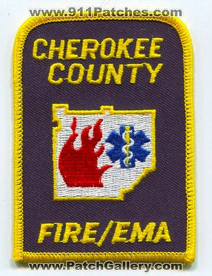 Cherokee County Fire Dept Emergency Management Agency EMA Patch Georgia GA Sq