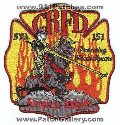 Castle Rock Fire Rescue Department Station 151 CRFD Company Patch Colorado CO OS