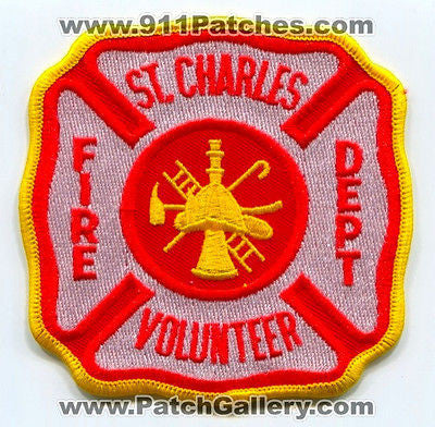 Saint St Charles Volunteer Fire Department Dept FD Rescue EMS Patch Arkansas AR - SKU169