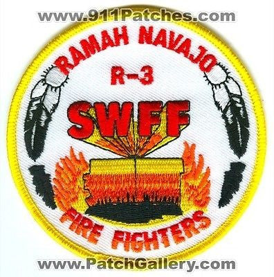 Ramah Navajo Indian Reservation Fire Fighters R-3 Wildland Patch New Mexico NM
