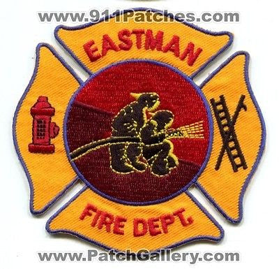 Eastman Fire Department Dept FD Rescue EMS Patch Georgia GA Patches NEW