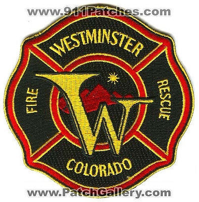 Westminster Fire Rescue Department Dept WFD EMS Patch Colorado CO Patches N/S