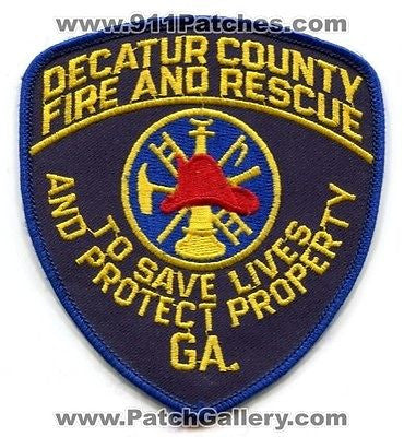 Decatur County Fire and Rescue Department Dept FD EMS Patch Georgia GA Patches