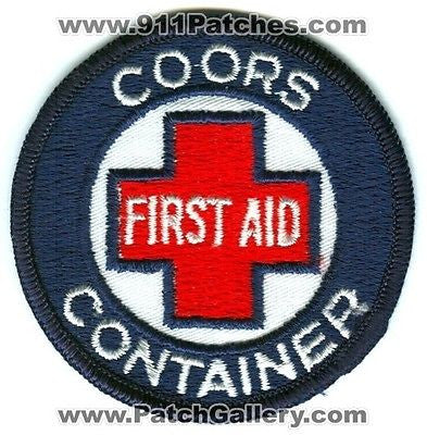 Coors Container Beer Brewery First Aid EMS Department Dept Fire Patch Colorado CO Patches