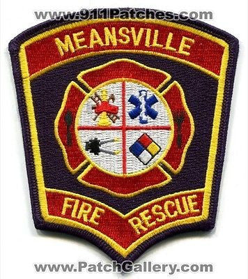 Meansville Fire Rescue Department Dept FD EMS Patch Georgia GA Patches NEW - SKU126