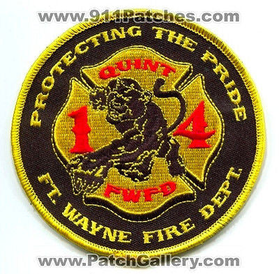 Fort Wayne Fire Department Quint 14 FWFD Company Station Ft EMS Patch Indiana IN - SKU76