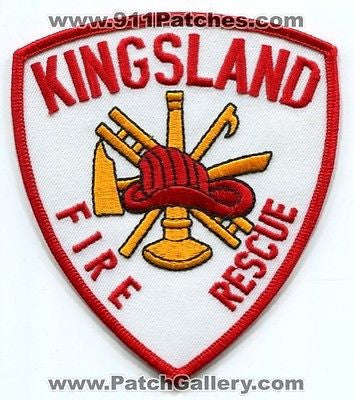 Kingsland Fire Rescue Department Dept FD EMS Patch Georgia GA Patches Old Style