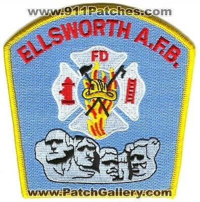 Ellsworth Air Force Base AFB Fire Department USAF Military Patch South Dakota SD