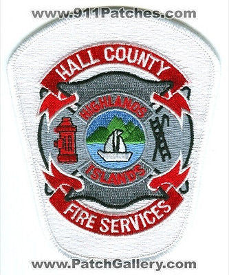 Hall County Fire Services Department Dept EMS Highlands Islands Patch Georgia GA