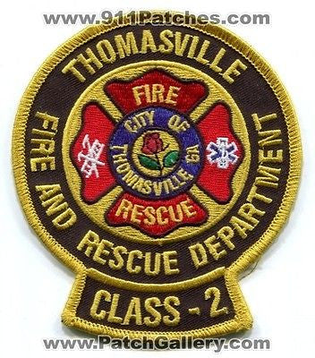 Thomasville Fire and Rescue Department Class 2 Dept FD EMS Patch Georgia GA