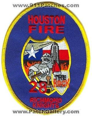 Houston Fire Department Station 28 HFD Company Rescue EMS Patch Texas TX O/S